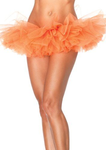 Leg Avenue Women's Organza Tutu, Neon Orange, One Size