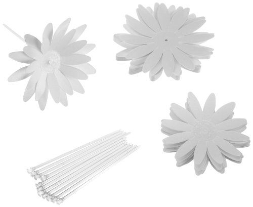 Wilton 120-1177 Dimensional Daisy Flower Cake Side Picks, 12 Count