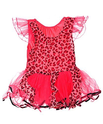 "Princess Expressions ""Leopard Sweet"" Costume Dress (Sizes 6M - 24M) - fuchsia, 12 - 24 months"