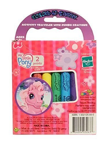 My Little Pony G3: Ponies & Playtime Color n Carry Activity Traveler with Jumbo Crayons & Activity Book