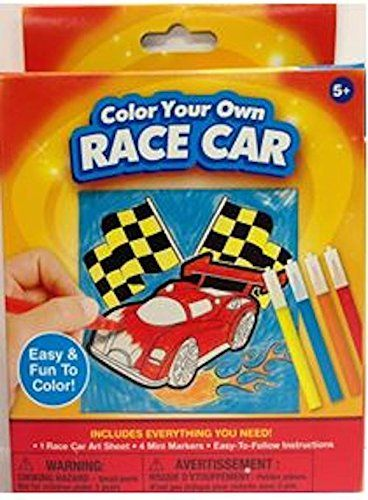 Color Your Own Canvass Racecar