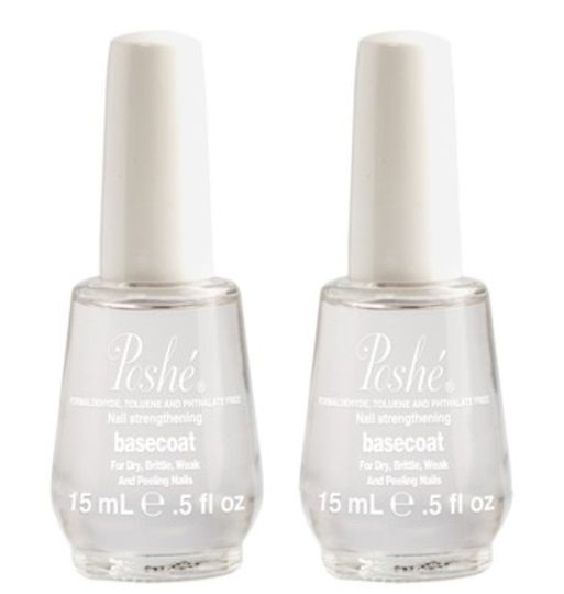 Poshe Fast Drying Basecoat - 0.5 fl. oz. / 15 ml (2-Pack)