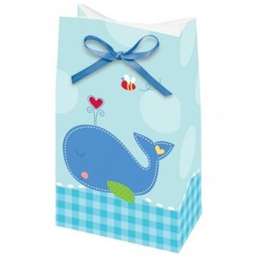 Ahoy Baby Boy Shower Favor Bags with Ribbon 8 Pack
