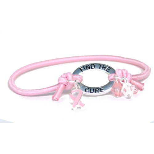 Pink Ribbon Elastic Band Bracelet Party Accessory