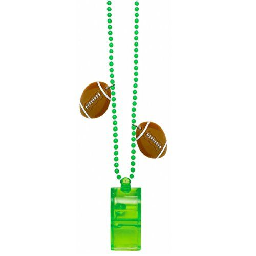 Football Bead Chain with Whistle