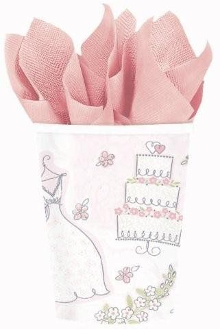Sweet Romance Cups Wedding Anniversary Bridal Shower Dress Cake Party