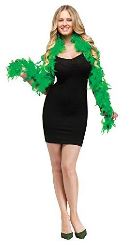 GREEN FEATHER BOA 5 FT