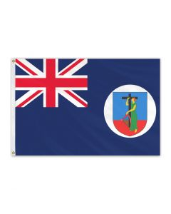 Montserrat Outdoor Flag with Brass Grommets 100% Polyester [3' x 5']