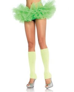Leg Avenue Women's Organza Tutu, Neon Green, One Size