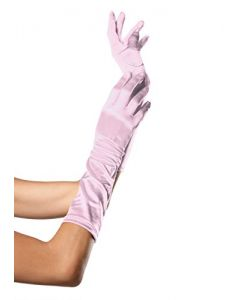 Elbow Length Satin Gloves Accessory