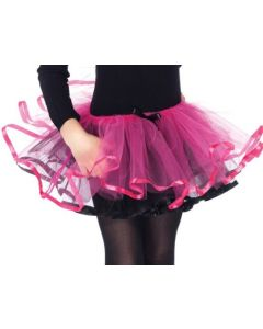 Enchanted Reversible Ribbon Trimmed Tutu (Black/Fuchsia;One Size)