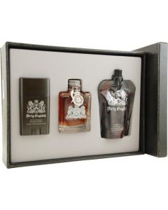 Dirty English By Juicy Couture For Men Edt Spray 3.4 Oz & Aftershave Soother 4.2 Oz & Deodorant Stick 2.6 Oz
