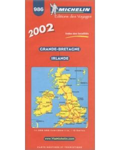 Michelin Great Britain & Ireland Map No. 986, 20e