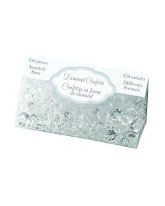 Lillian Rose Party Decor Crystal Diamond Table Confetti Clear