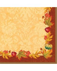 Thanksgiving Blessing 3-Ply Beverage Napkins 16 Per Pack
