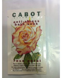 Cabot Vitamin E Anti-Stress Bath Soak 1/2 Fl. Oz. Envelopes - Rose Petal  with vitamin E - Case of 24 Packs