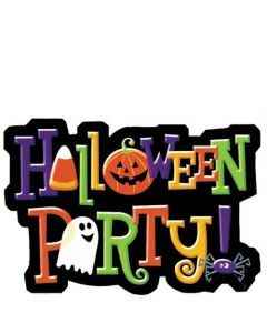 """Halloween Party"" Die Cut Party Invitations - 20 Count"