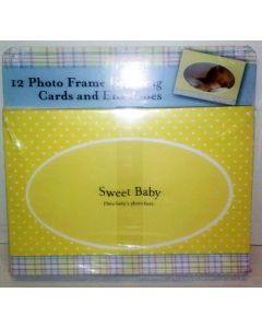 12 Photo Frame Greeting Cards & Envelopes