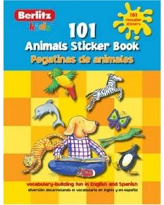 101 Animals Sticker Book/101 Pegatinas de Animales (Berlitz Kids) (Spanish Edition)