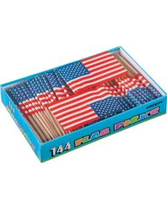 1 X U.S. Flag Picks Box