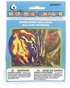 "12"" Latex Marbleized Balloons, 6ct"