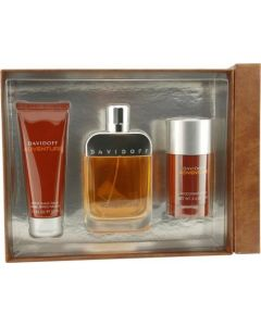 Davidoff Adventure By Davidoff For Men Edt Spray 3.4 Oz & Aftershave Balm 2.5 Oz & Deodorant Stick 2.5 Oz