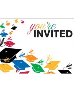 Creative Converting 8 Count Graduation Toss Invitation Cards