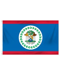 Belize Outdoor Flag with Brass Grommets 100% Polyester [3' x 5']