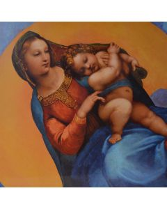 Madonna Of Foligno Painting - Raphael - Oil Tempera on Panel, 1511 - TREASURES, INC.