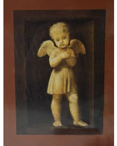 Praying Cherubs Painting - Raphael - Oil on Panel, 1507 - TREASURES, INC.