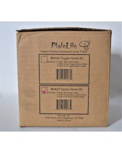 PlateLite Decor Home Kit Box Contains 20 Cover Plates