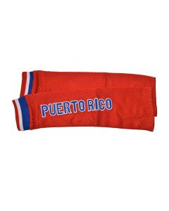 US Territory of Puerto Rico NEW RED Pair of Polyester Athletic Mesh Arm Sleeves PUERTO RICO – L/XL