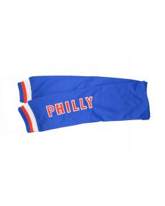 US City of Philadelphia NEW BLUE Pair of Polyester Athletic Mesh Arm Sleeves PHILLY – L/XL