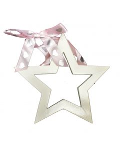 Lolipop Kids Inc. Girls Star Cutout – White Finished MDF Shape Decoration