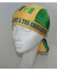 NEW Americas Unisex Headwear - ST. VINCENT & THE GRENADINES Design Polyester Spandex Blend Du-Rag