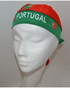 NEW European Unisex Headwear - PORTUGAL Design Polyester Spandex Blend Du-Rag