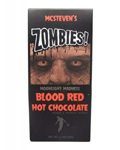 Zombies! Moonlight Madness Blood Red Hot Chocolate Mix - 2.5 oz ( 5 Pack)