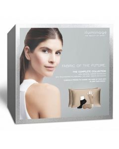 iluminage. THE COMPLETE COLLECTION with Patented Copper Technology Skin Rejuvenating Pillowcases,Eye Mask, Socks(S/M) & Gloves (XS/S)