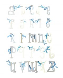 Boys Lowercase Alphabet Wall Letters – White Finished MDF Letters