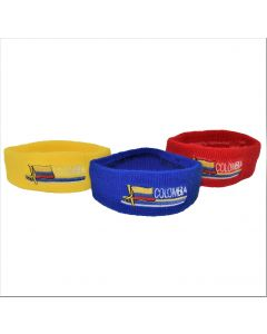 2-Pack – Colombia Designed Assorted Flag Colors Polyester Knitted Headbands