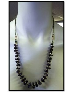 RARE Natural Semi Precious Stone Amethyst Stone Necklace